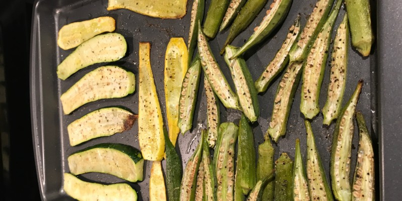 Cooking Okra, A New Way